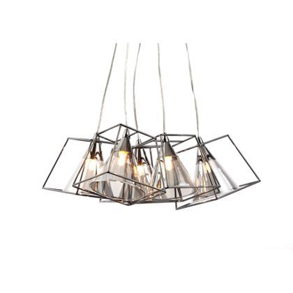 Titan square 5 light cluster pendant ceiling light black new titan square 5 light cluster pendant ceiling light black mozeypictures Choice Image