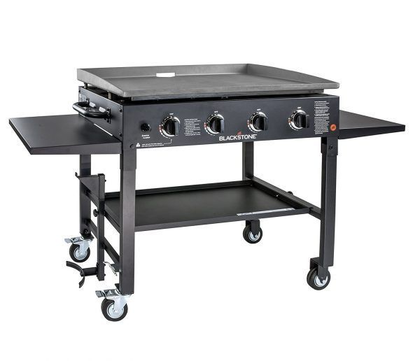 3 Blackstone 36 inch Outdoor Flat Top Gas Grill Griddle Station