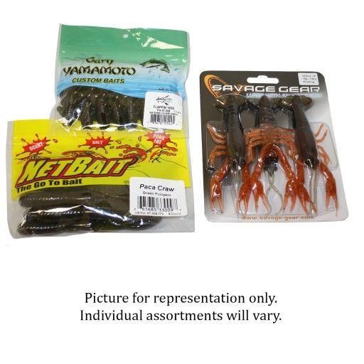 Grab Bag Soft Plastic Lure Assortment - 25 Retail Packages - $139 Value