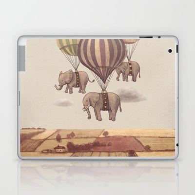Flight of the Elephants  Laptop & iPad Skin by Terry Fan - $25.00
