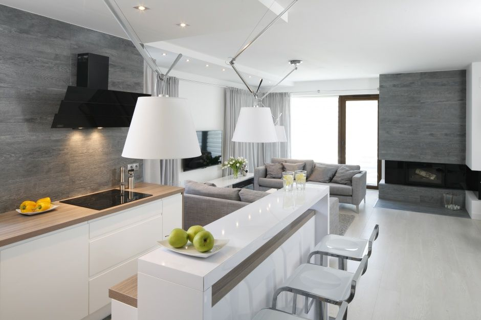 Kuchnia Biel Drewno Szarosc Szukaj W Google Kitchen Design Minimalist Kitchen Cabinets Modern Kitchen Design