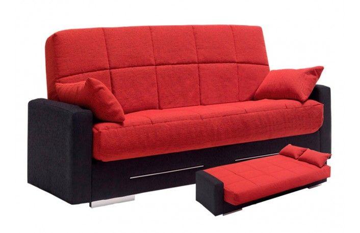 Sof cama libro estilo moderno tapizado en tela sof s for Sofa tapizado moderno