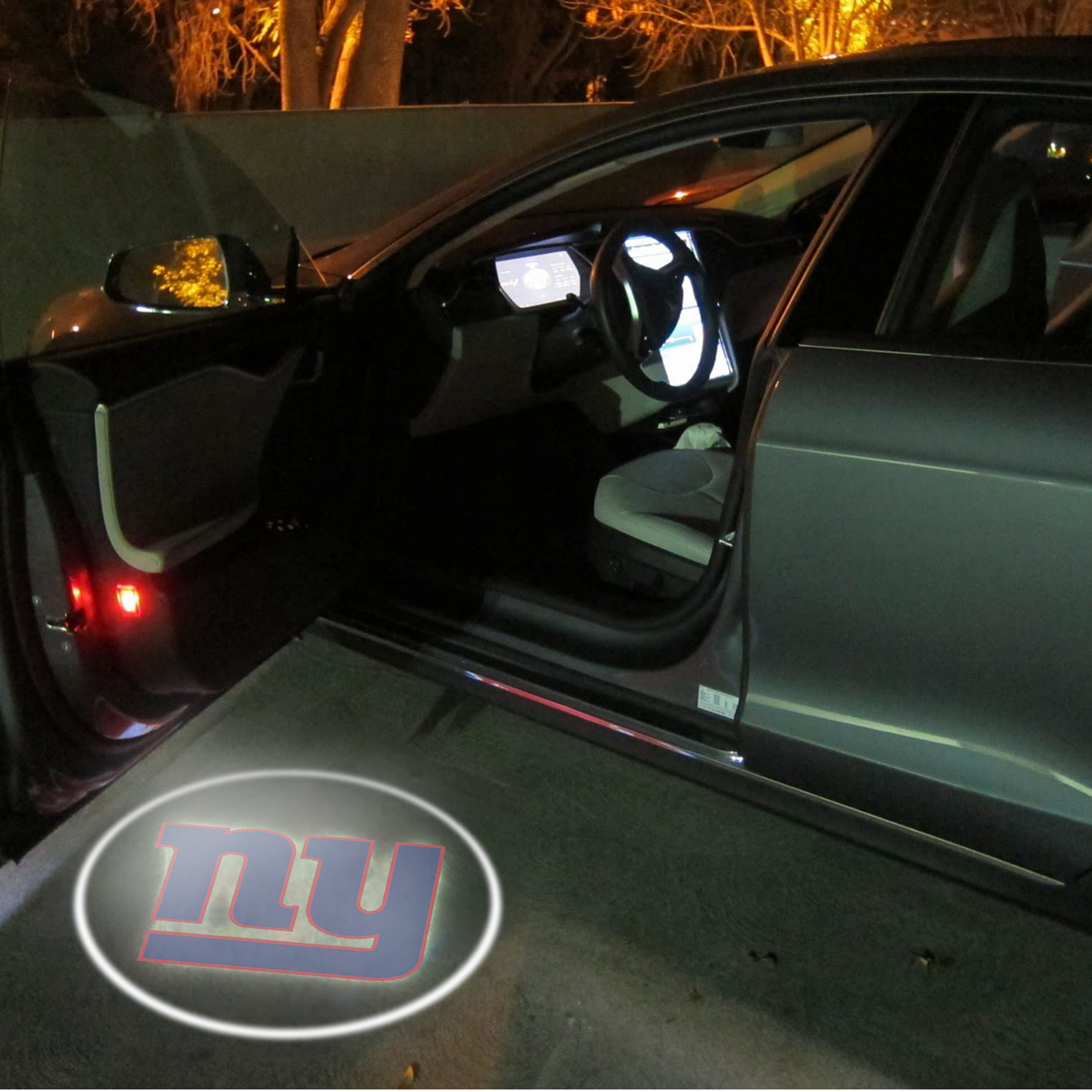 2 Nfl New York Giants Wireless Led Car Door Projectors Car Door