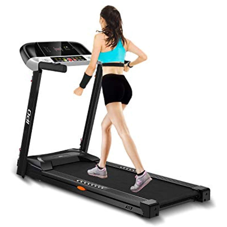Ipo Treadmill Folding Electric Portable Treadmill Running Machine