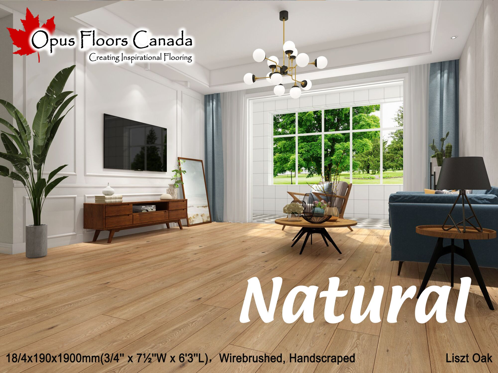 Opus Floors Canada Liszt Oak Beautiful Natural Oiled
