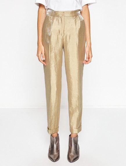 Koton Parlak Pantolon Pantolon Moda Stilleri Moda