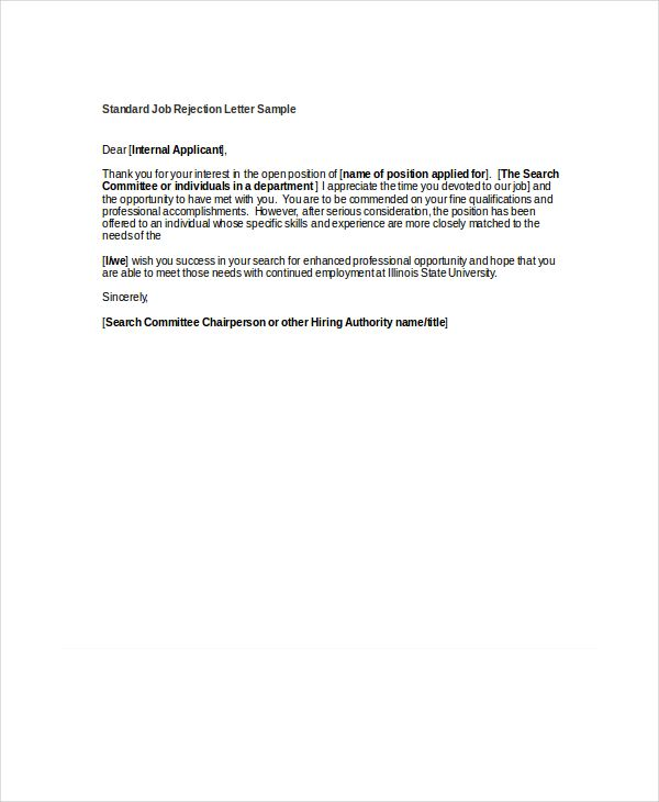 9 rejection letters free sle exle format News to Go 3 Pinterest - rejection letter sample