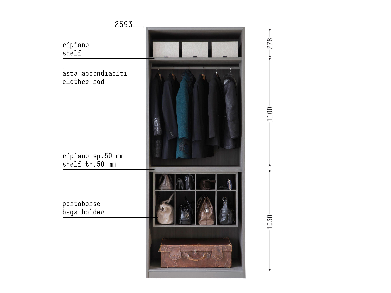 Portaborse Cabina Armadio : Porro spa prodotti sistemi organizzare linterno organize the