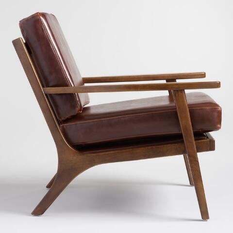 Rich Whiskey Brown Bi Cast Leather Cushions Pair With A Sleek Wood Frame Finished In Leather Lounge Chair Mid Century Leather Lounge Chair Brown Leather Chairs