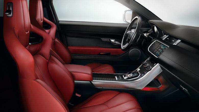 range rover evoque dynamic plus agility leather interior with red sports seats intrieur range