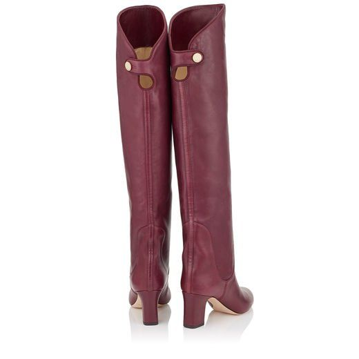 cc7488fb59f The Jimmy Choo MINERVA 65 Vino Smooth Leather Pull On Boots