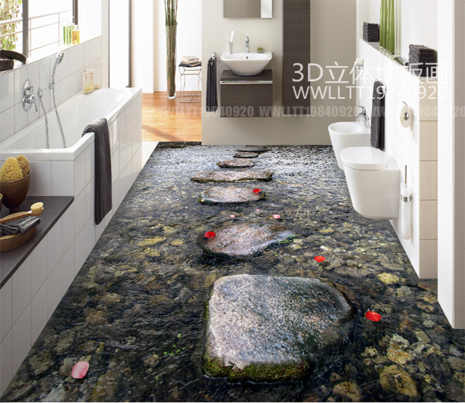 3d Stone Road 135 Floor Mural Aj Wallpaper Floor Murals Floor Wallpaper 3d Floor Painting