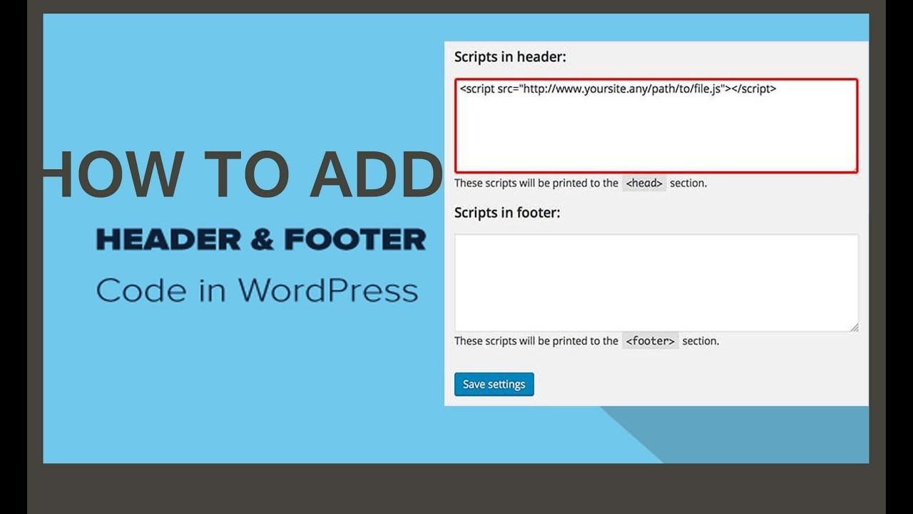 Insert Headers And Footers Code Wordpress Plugin 2019 Wordpress