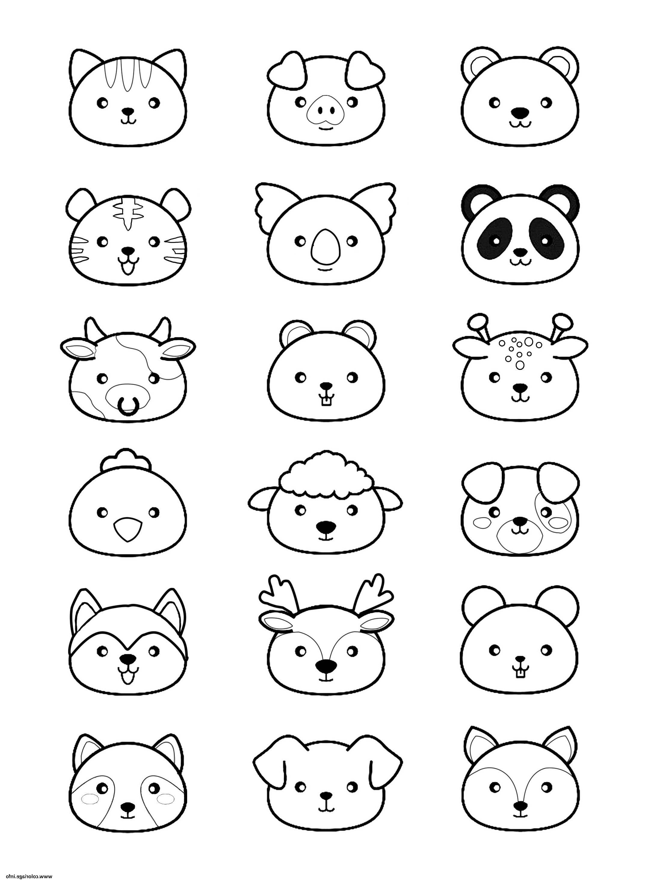 Kawaii Animaux Coloriage Dessin Dessinkawaii In 2020 Panda