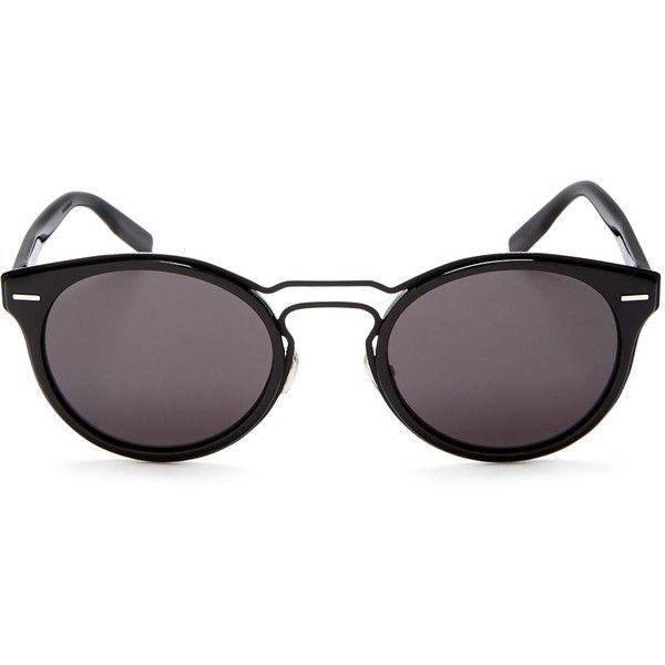 Dior Homme Round Sunglasses, 51mm (798 390 LBP) ❤ liked on Polyvore ...