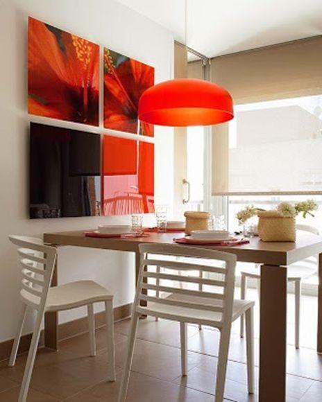 comedor-pequeño-mesa-rectangular   decoracion   Pinterest   Comedor ...