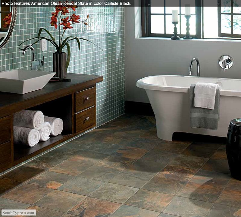 kendal slate 12 x 12 carlisle black - Bathroom Tiles Kendal