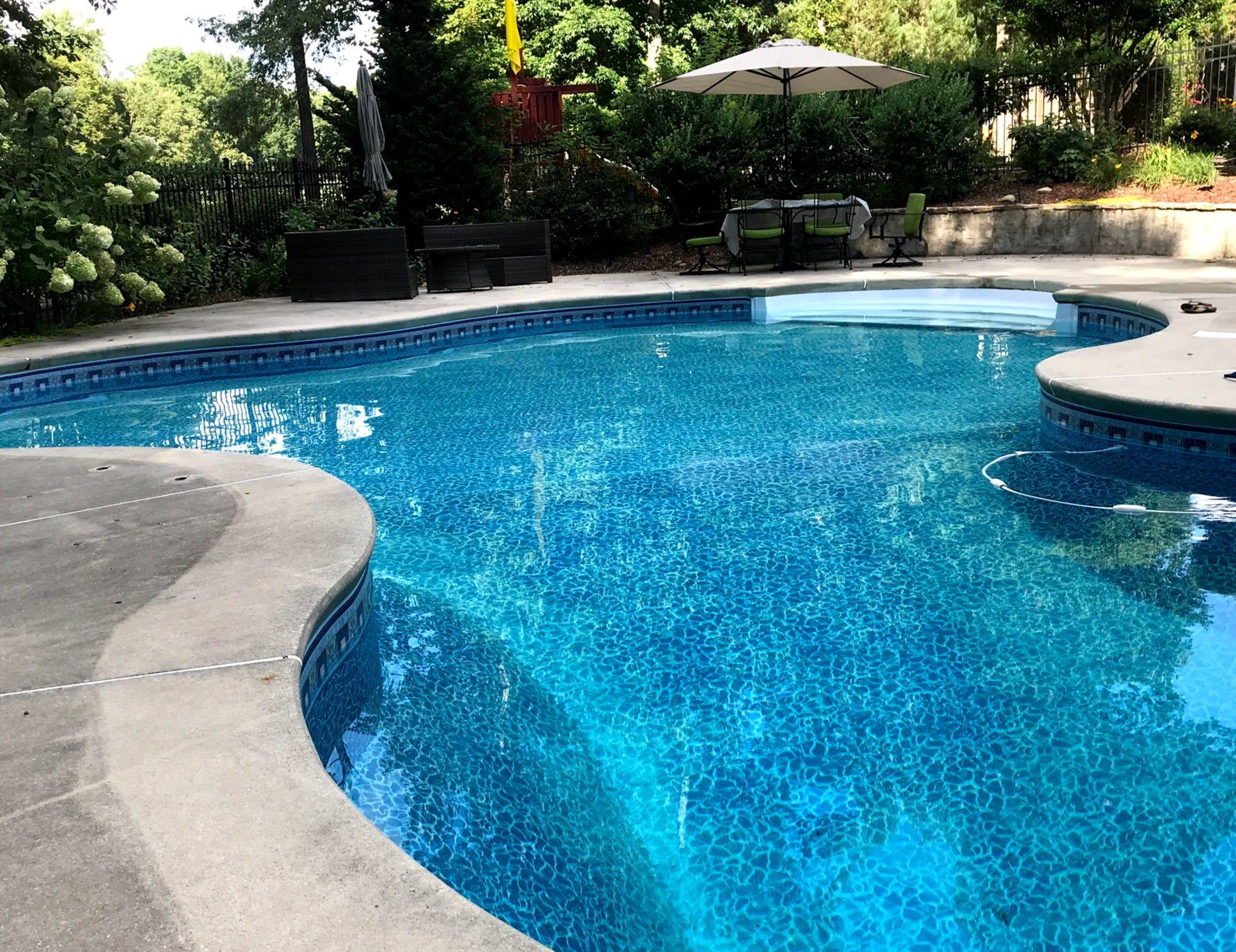 Inground Swimming Pool Liners Swimming Pool Liners Swimming Pools Inground Inground Pool Landscaping