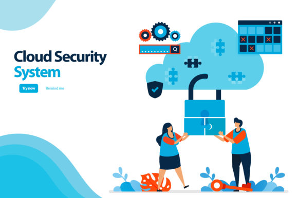 Cloud Computing Security System Graphic By Setiawanarief111 Creative Fabrica Cloud Computing Security System System