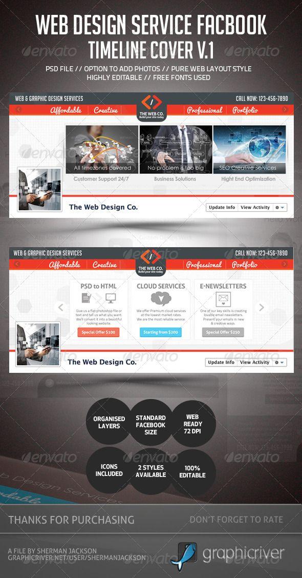 Web Design Service Facebook Timeline Cover Web design services - timeline website template