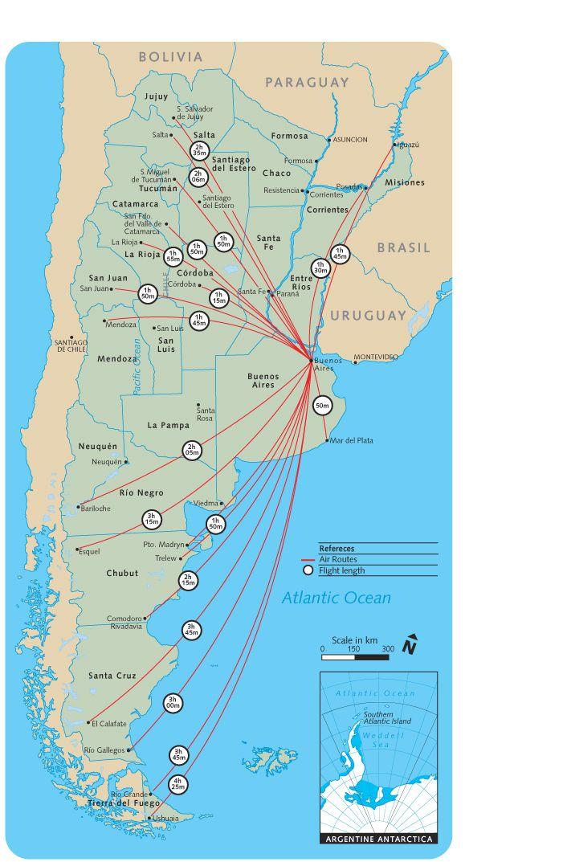Argentina Flights Map