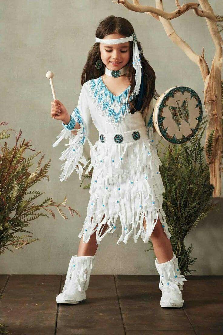 Native American Princess Indian Girl Fancy Dress Up Halloween Child Costume