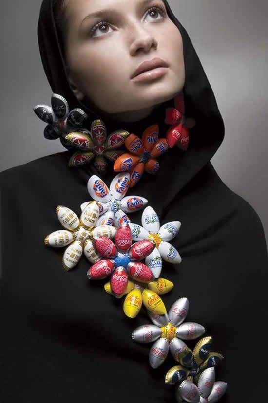 Yoav Kotik: Necklace, recycled bottle caps