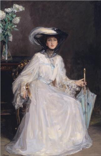 Evelyn Farquhar - John Lavery, Irish, 1906