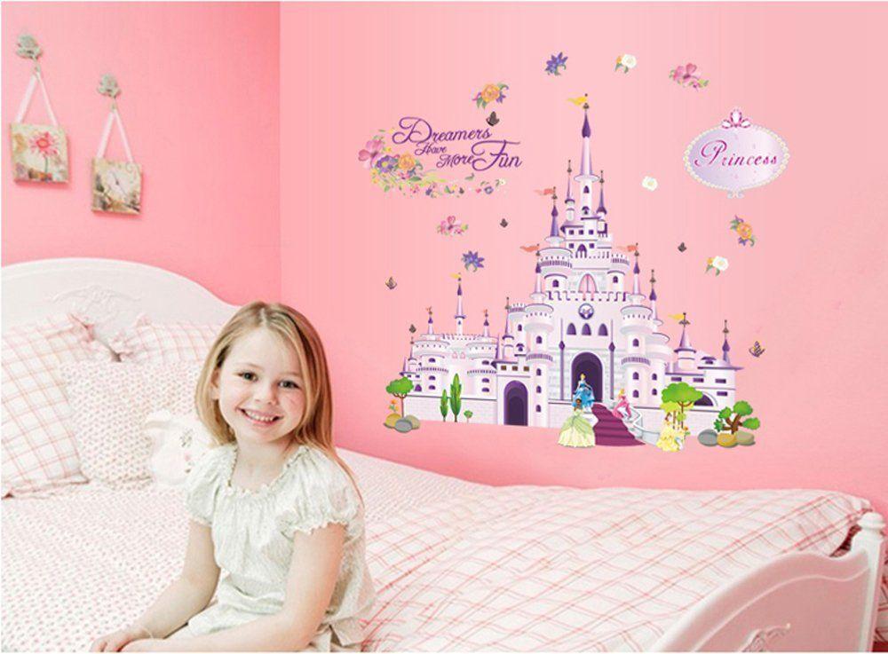 Außergewöhnlich Wandtattoo Prinzessin Schloß   Wandgestaltung Kinderzimmer Für Mädchen