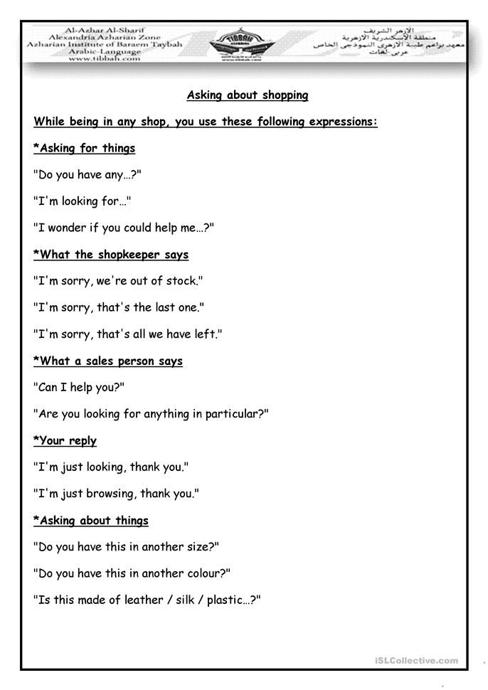 shopping dialogue | Vocabulary | Pinterest