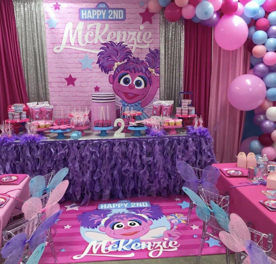 1 Abby Cadabby 5x6 Table Banner Backdrop Step Repeat Design Print A Woo Sesame Street Birthday Party Elmo Birthday Party 1st Birthday Party For Girls