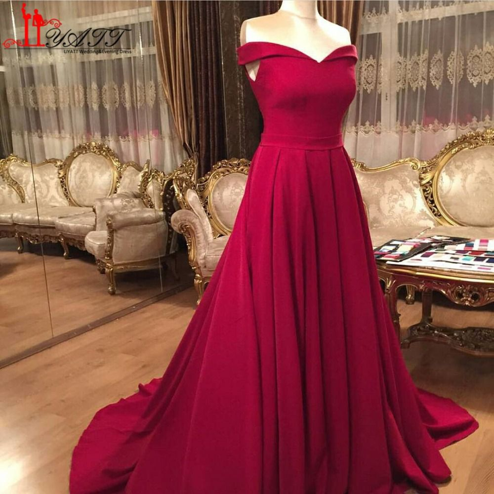 Sexy off the shoulder burgundy evening dresses long floor length