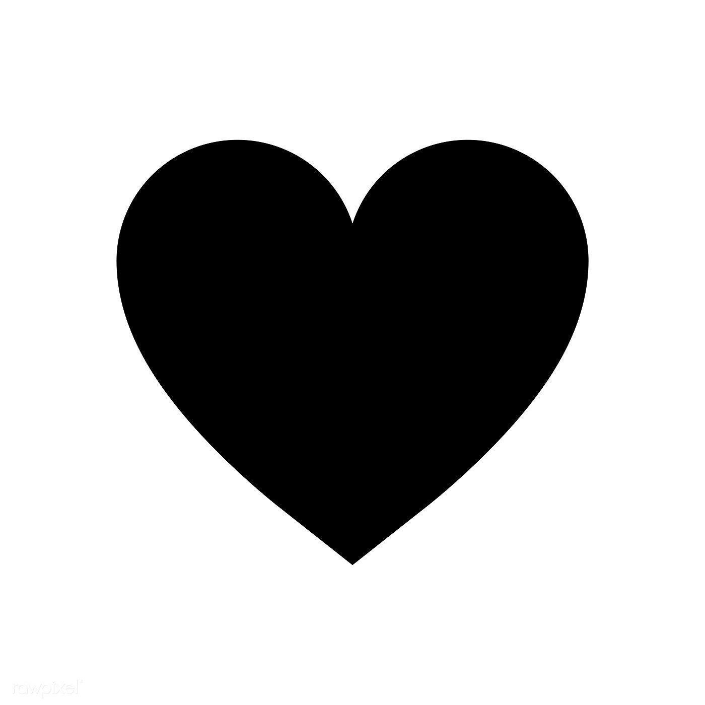 17++ Small black heart clipart info