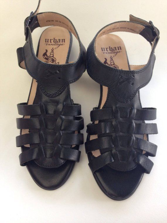 da266ee0dec Gladiator Wedge Sandals leather tie ups Medium heeled black lace up sandal Punk  rock lace up sandals