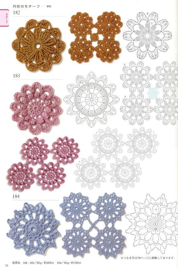 Häkeln Deckchen Muster Buch 300 japanisches von MeMeCraftwork ...