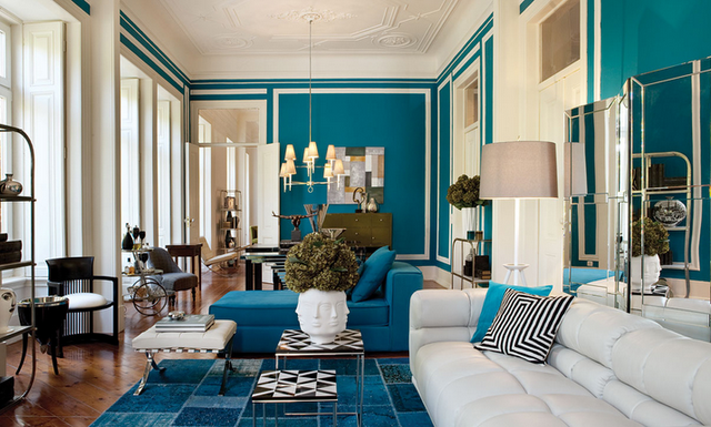 Loveeeeee The Turquoiseblue Color  Living Room  Pinterest Entrancing Blue Color Living Room Design Inspiration