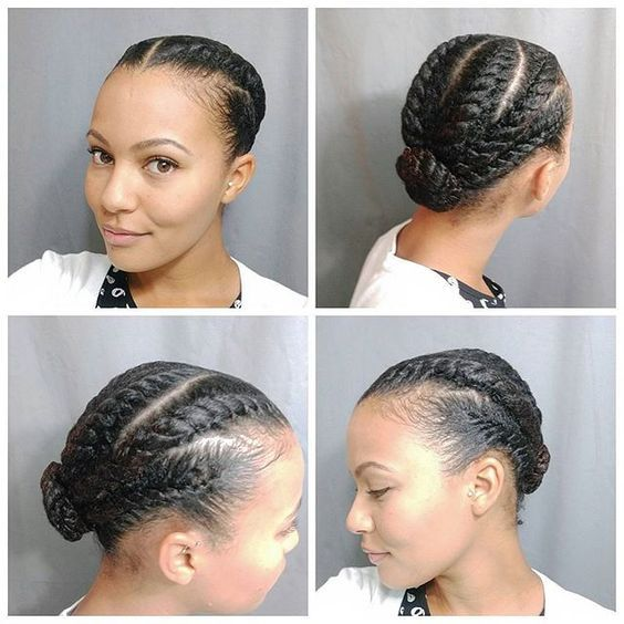 Flat twist hair do natural hair pinterest on instagram see a style on instagram such as this chunky flat twist bun on stasialovescurls but dont have the time or patience to do it yourself solutioingenieria Gallery