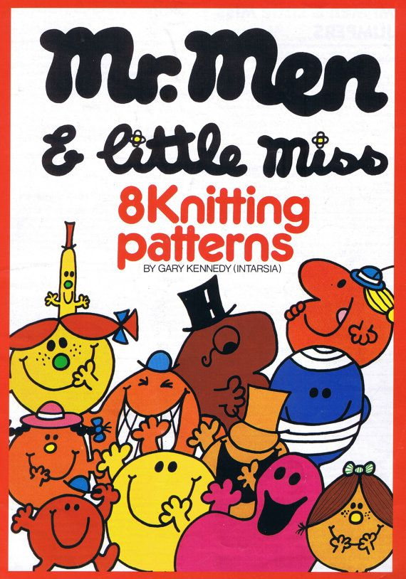 Pdf File Mr Men And Little Miss Intarsia Knitting By Retroneedles 4 00