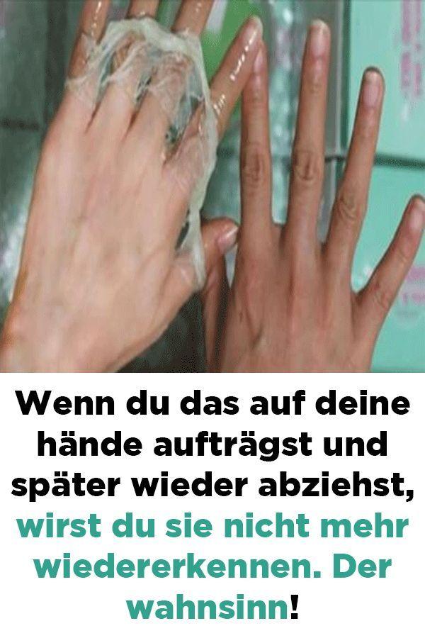 Wenn Du Das Auf Deine Hande Auftragst Und Spater Wieder Abziehst Wirst Du Sie Nicht Mehr Wiedererkennen Der Wahnsinn Gesundheit Und Schonheit Gesundheit Handmaske