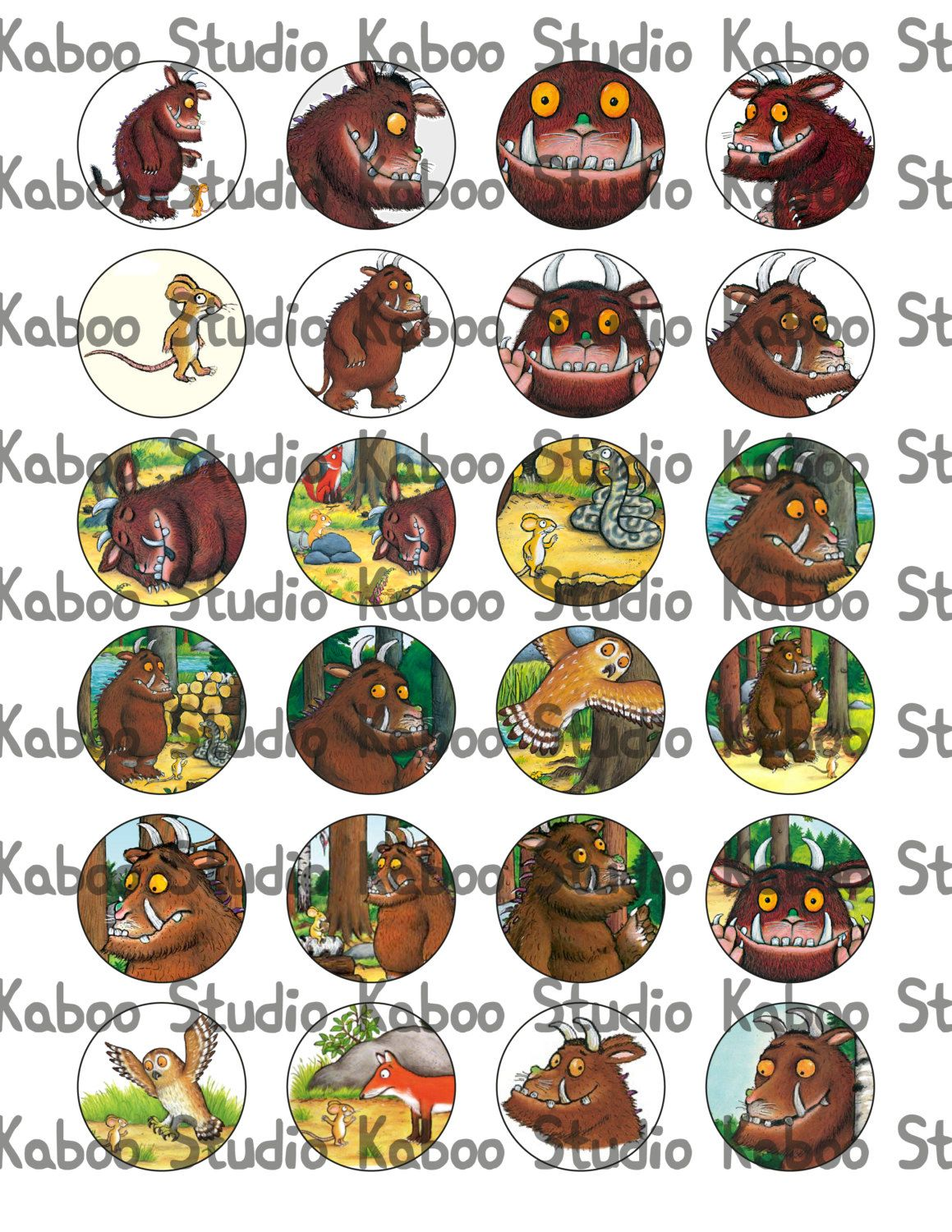 Printable Gruffalo Inspired Toppers