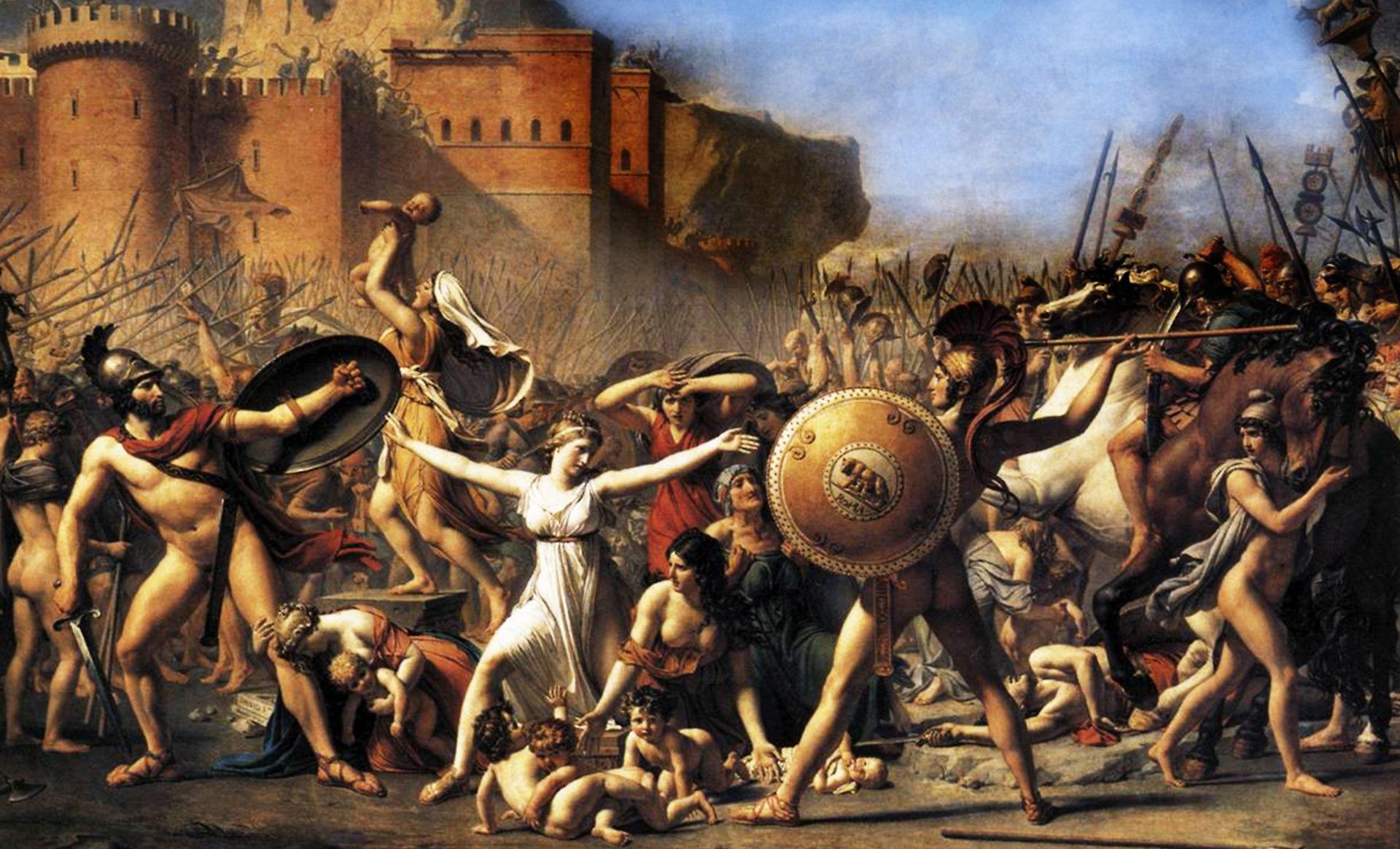 El Rapto De Las Sabinas De Jacques Louis David David Painting History Painting Art