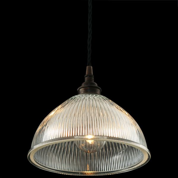The mullan boston industrial holophane pendant light was designed and manufactured by mullan lighting in ireland
