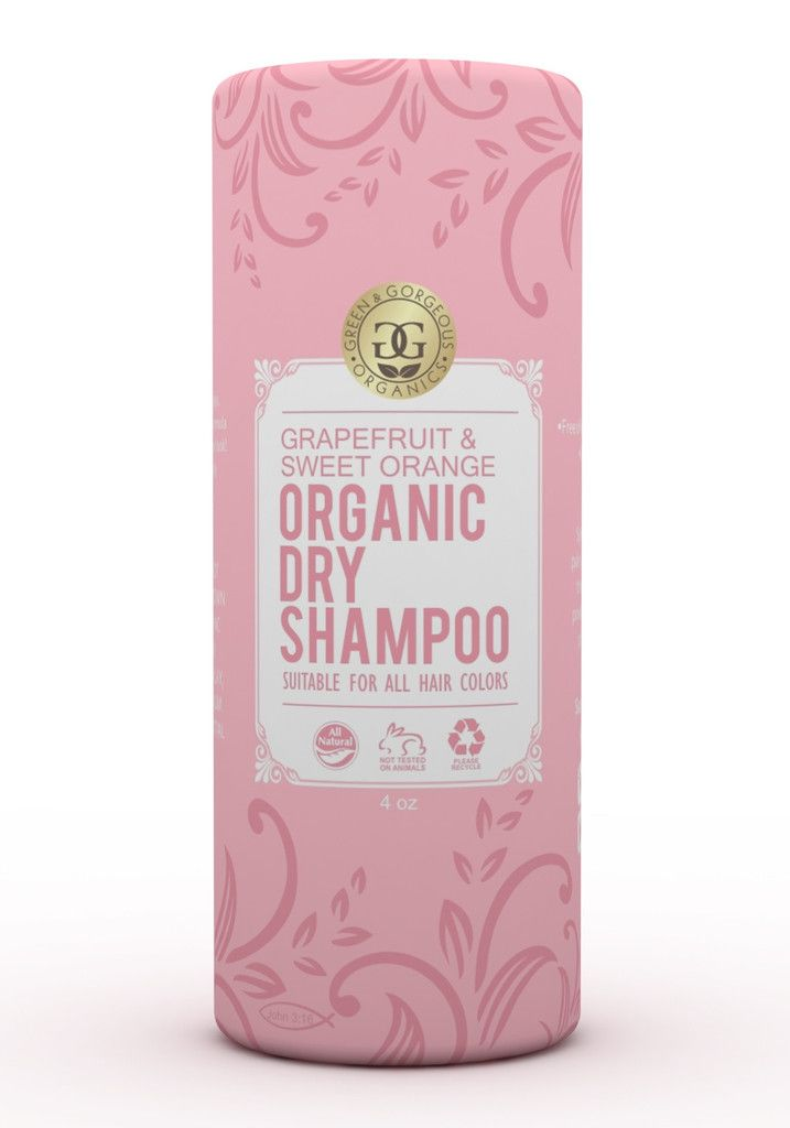 Organic Natural Dry Shampoo Powder For All And Oily Hair Types Grapefruit And Sweet Orange Organic Dry Shampoo Natural Dry Shampoo Dry Shampoo Powder
