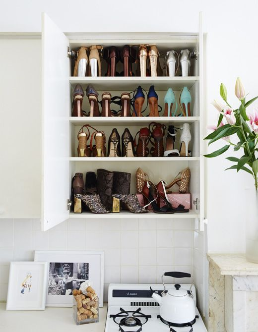 Get creative with storage - if you prefer shoes to cooking, use a ...