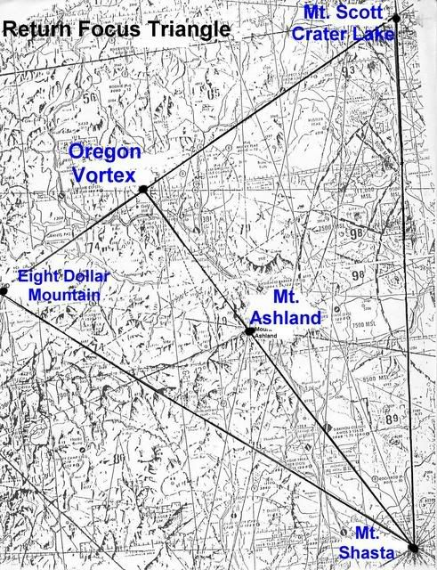 map of oregon laylines | Ley Lines And Vortices Of The American