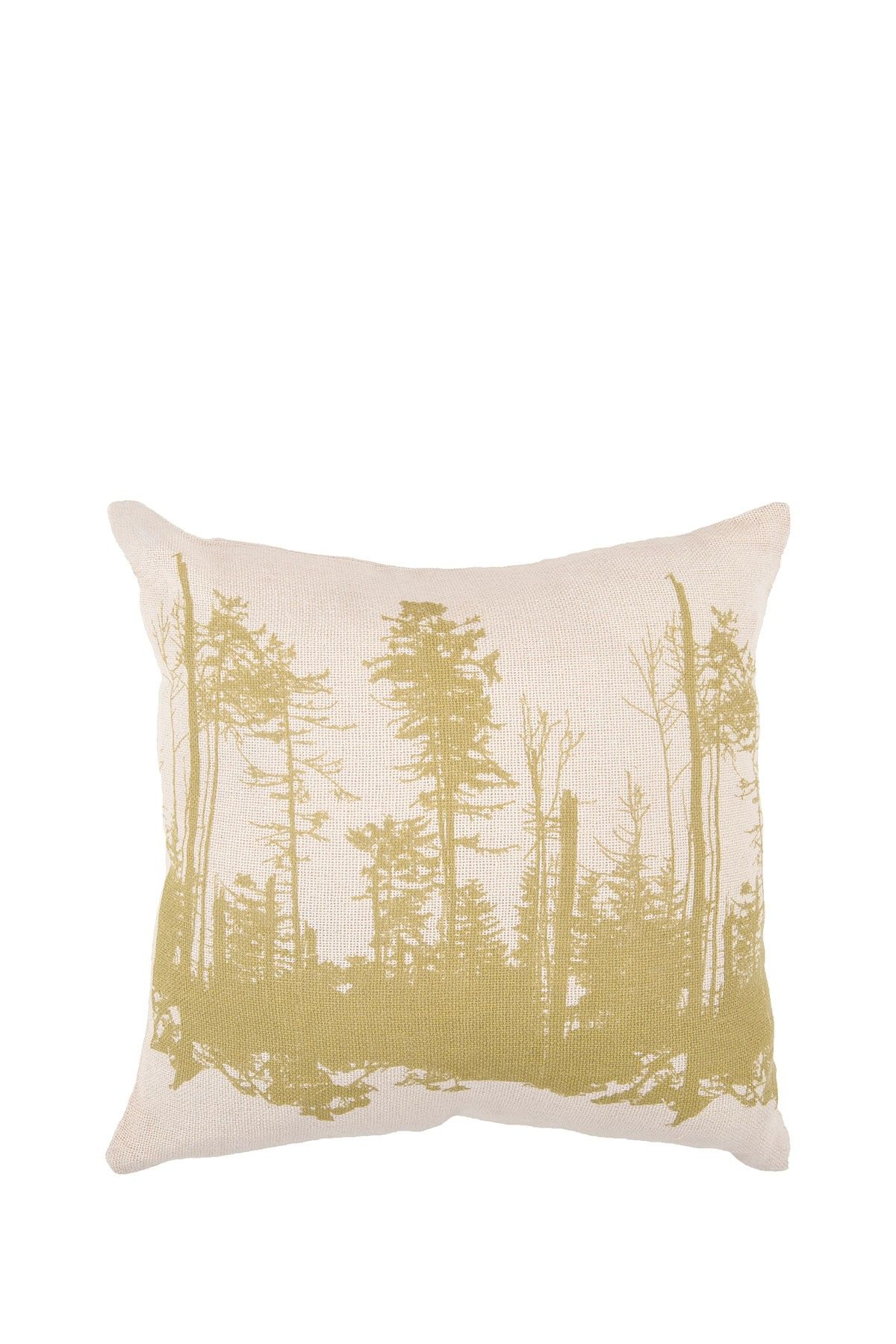 Tall Trees #Pillow - Parchment/Moss - 18in. x 18in.