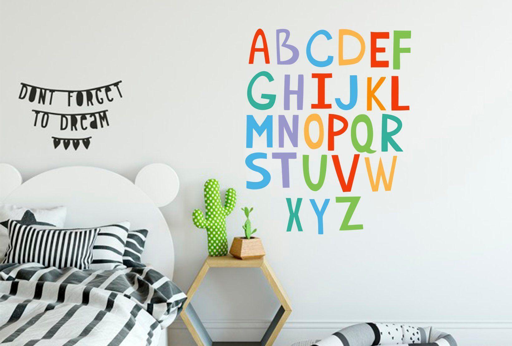 Alphabet Wall Decal Children Alphabet Decal Kids Room Decals