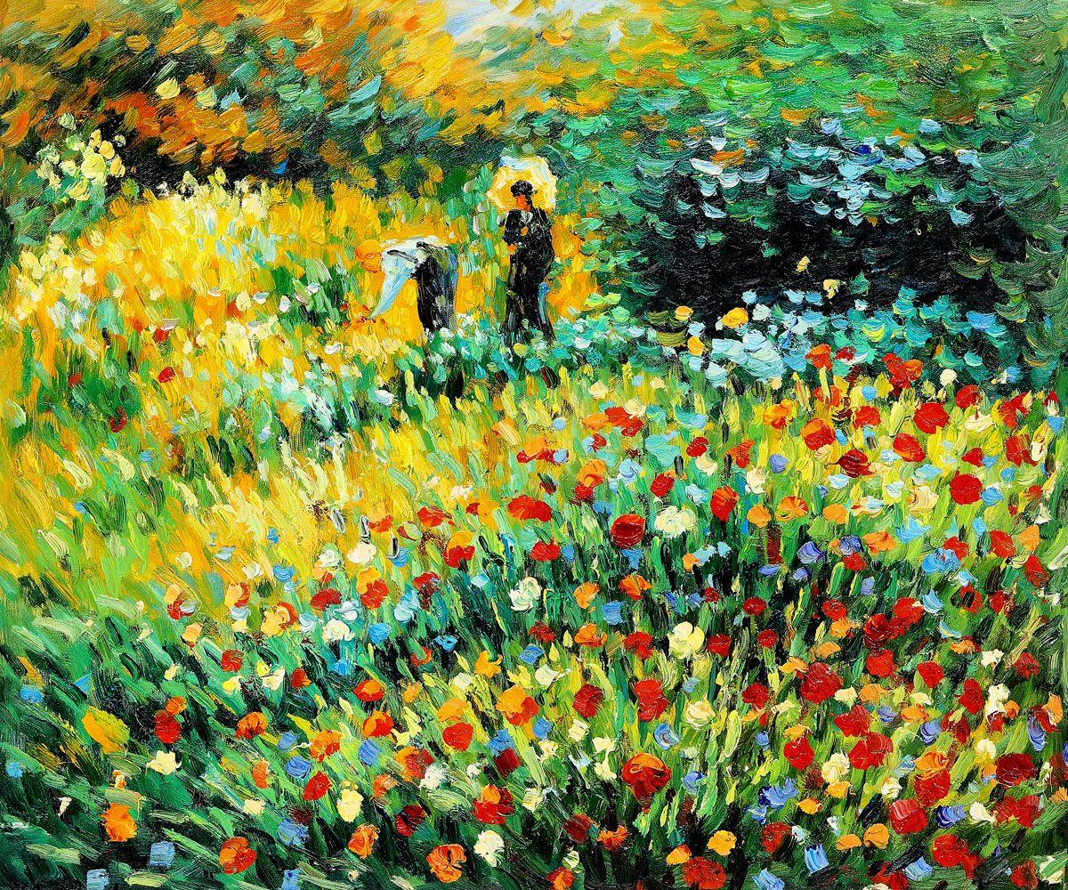 Woman With A Parasol In A Garden Renoir