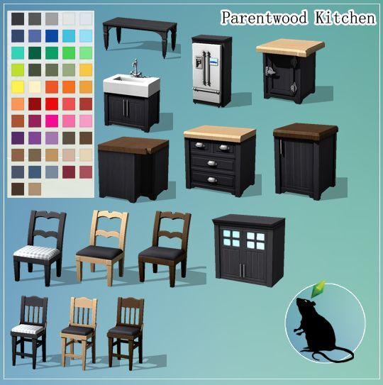 Sims Stuff 4 Kitchen: Parentwood Kitchen Infos + Download Under The Cut // Für