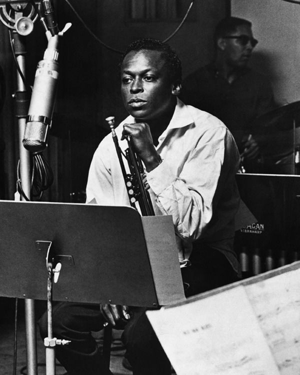 Miles davis poster kind of blue tumpet iconic jazz musician